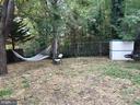 Backyard w/ Shed. Newly Seeded Yard. - 2411 S MONROE ST, ARLINGTON