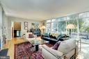 Living Room with floor to ceiling windows - 2318 44TH ST NW, WASHINGTON
