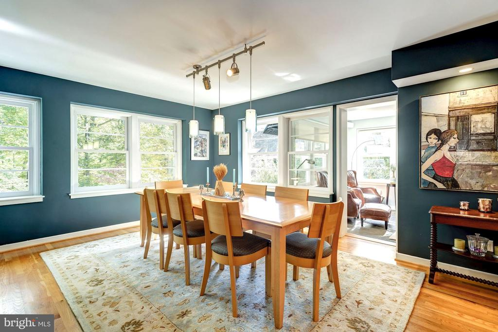 Dining Room with tree top views - 2318 44TH ST NW, WASHINGTON