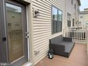 Rear deck from the great room - 20496 MILBRIDGE TER, ASHBURN