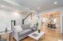 Living Room/Dining Room Combo - 1634 ARGONNE PL NW, WASHINGTON