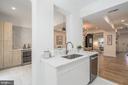 Kitchen with Wine Bar - 1634 ARGONNE PL NW, WASHINGTON