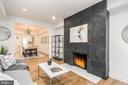 Living Room Fireplace - 1634 ARGONNE PL NW, WASHINGTON
