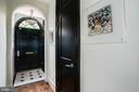 Marble Entry with Generous Coat Closet - 3218 VOLTA PL NW, WASHINGTON