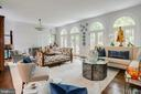 Living Room with 4 Palladian-style French doors - 3218 VOLTA PL NW, WASHINGTON