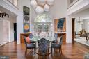 Dining Room Features 21' Ceiling - 3218 VOLTA PL NW, WASHINGTON