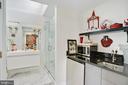 Marble En Suite Bath 3 with Wet Bar - 3218 VOLTA PL NW, WASHINGTON