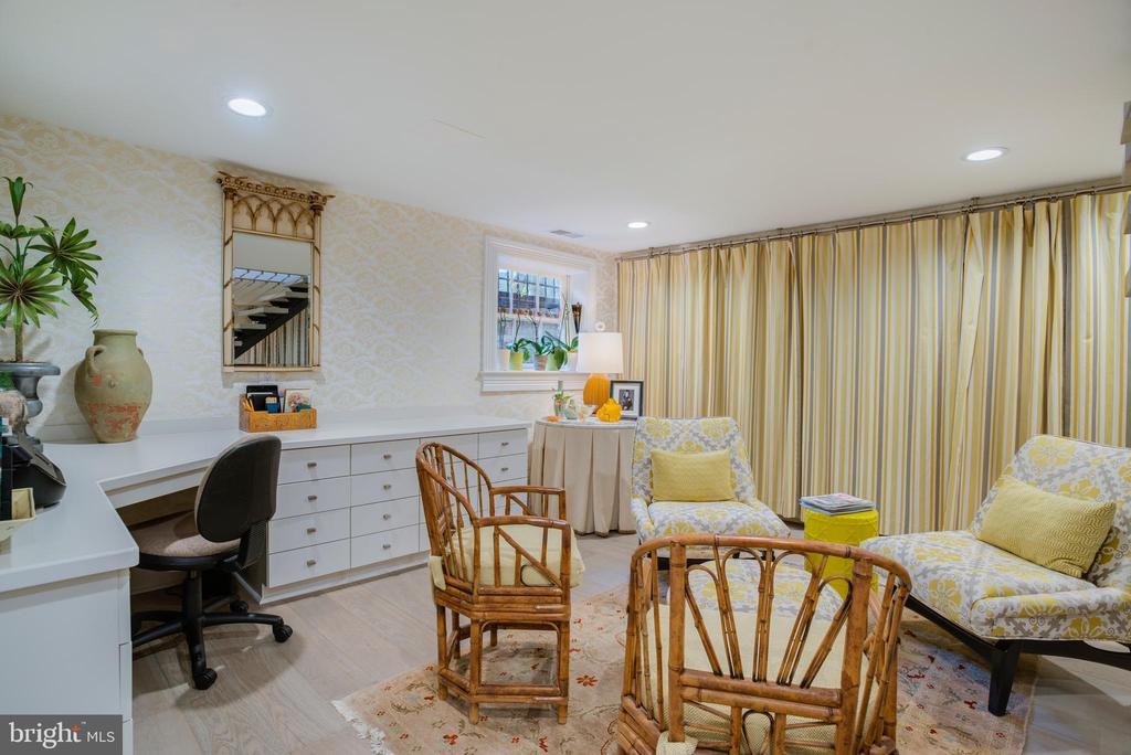 Designer Office with Portiere Hidden Cubbies - 3218 VOLTA PL NW, WASHINGTON