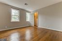 Large Master Bedroom with Custom Builtins - 2877 S ABINGDON ST, ARLINGTON