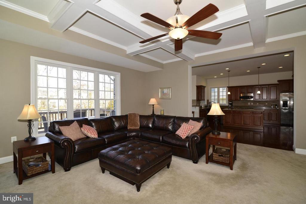 Family Room off of Kitchen(photo of similar home) - 9903 MOSBY RD, FAIRFAX