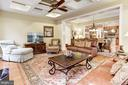 Family Room With Coffered Ceiling - 4830 CASTLEBRIDGE RD, ELLICOTT CITY