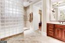 Master Bathroom With Glass Block Shower - 4830 CASTLEBRIDGE RD, ELLICOTT CITY