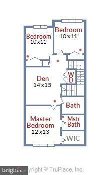 Upper Level Floorplan - 908 N CLEVELAND ST, ARLINGTON