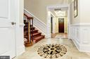 Extended Foyer With Custom Marble - 4830 CASTLEBRIDGE RD, ELLICOTT CITY