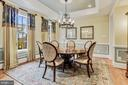 Formal Dining Room With Tray Ceiling - 4830 CASTLEBRIDGE RD, ELLICOTT CITY