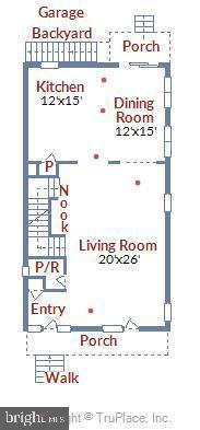 Main Level Floorplan - 908 N CLEVELAND ST, ARLINGTON
