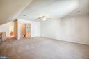 Upper level great room, hallway to bedroom & bath - 2272 BLUEBIRD LN, LOCUST GROVE
