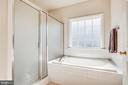Master bath with garden tub and separate shower - 2272 BLUEBIRD LN, LOCUST GROVE