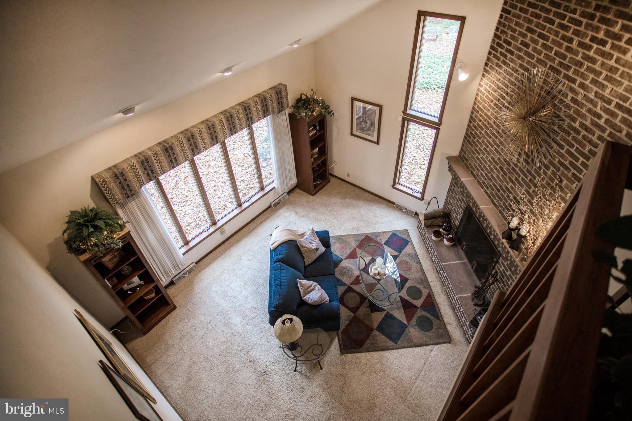 Living room from 2nd floor Loft area