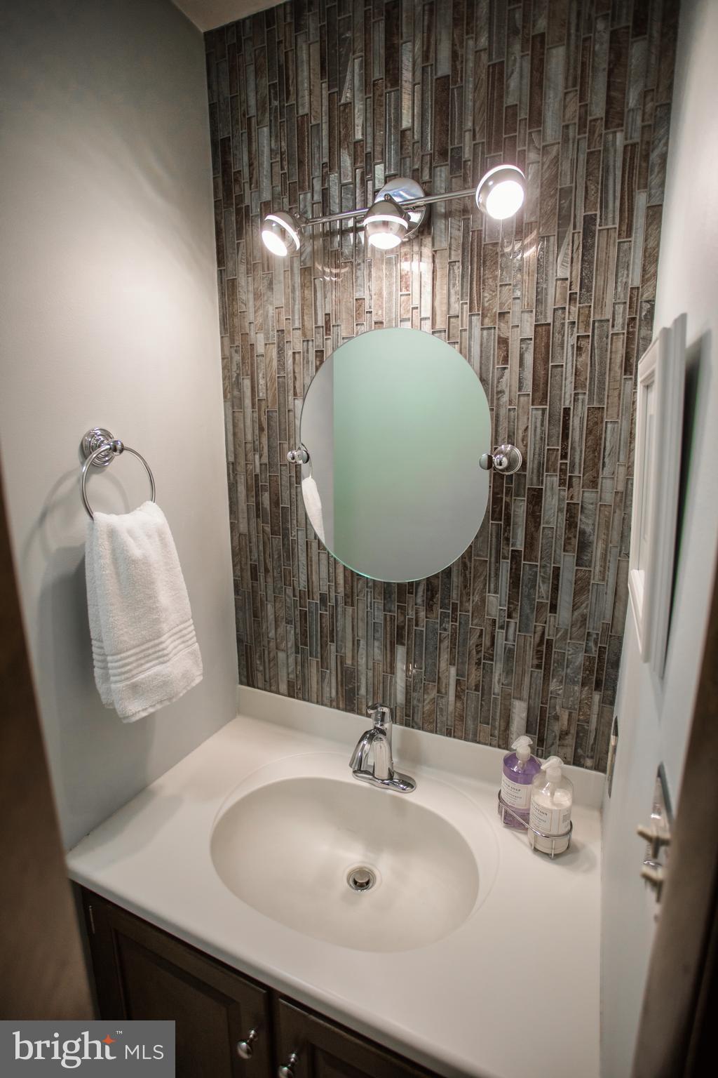 Half Bath vanity area