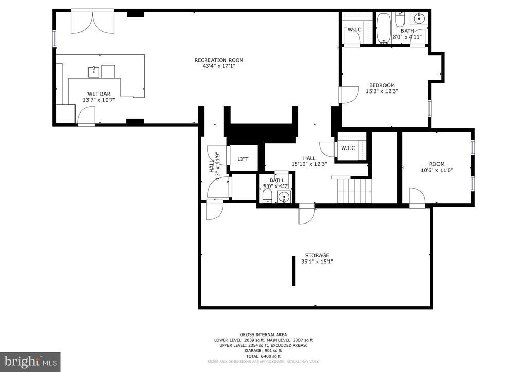 Lower Level Floor Plan - 4830 CASTLEBRIDGE RD, ELLICOTT CITY