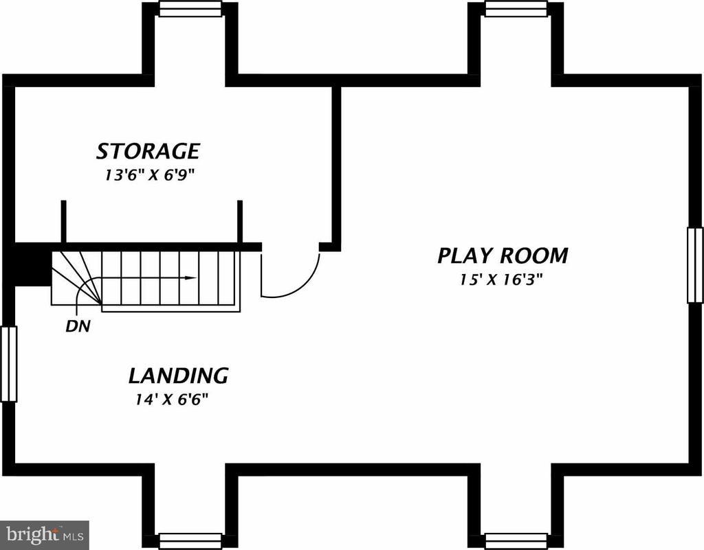 Upper Level 2 Plan - 3612 N GLEBE RD, ARLINGTON