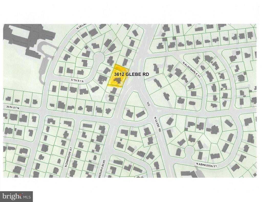 Site Plan & Lot Configuration - 3612 N GLEBE RD, ARLINGTON