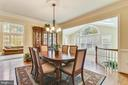 Dining room with crown molding - 10680 ALLIWELLS CT, OAKTON