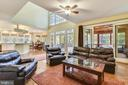 Family room opens to kitchen, porch & deck - 10680 ALLIWELLS CT, OAKTON