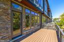 Balcony off of the eat-in kitchen - 5132 WILLET BRIDGE RD, BETHESDA
