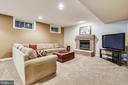 Recreation room with brick fireplace - 10680 ALLIWELLS CT, OAKTON