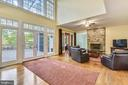 Family room with stone fireplace - 10680 ALLIWELLS CT, OAKTON