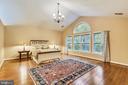 Master bedroom w/ vaulted ceiling & hardwood floor - 10680 ALLIWELLS CT, OAKTON