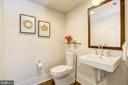 Basement half bathroom - 5132 WILLET BRIDGE RD, BETHESDA