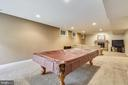 Game room opens to recreation room - 10680 ALLIWELLS CT, OAKTON
