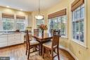 Breakfast area surrounded by windows - 10680 ALLIWELLS CT, OAKTON