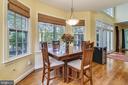 Eat-In kitchen overlooks back yard - 10680 ALLIWELLS CT, OAKTON