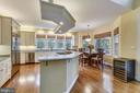 Kitchen surrounded by windows overlooking yard - 10680 ALLIWELLS CT, OAKTON