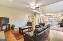 Family room with hardwood floors - 10680 ALLIWELLS CT, OAKTON