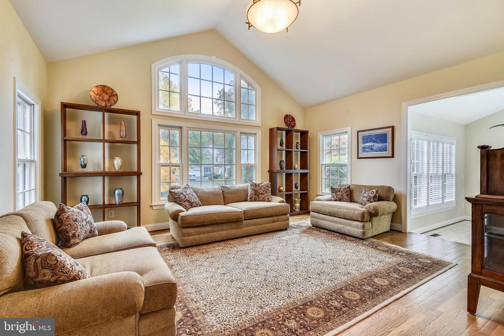 Living room with vaulted ceiling - 10680 ALLIWELLS CT, OAKTON