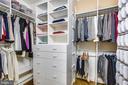 His & Hers custom walk-in closets - 10680 ALLIWELLS CT, OAKTON