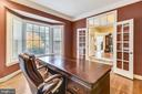Home office with French doors - 10680 ALLIWELLS CT, OAKTON