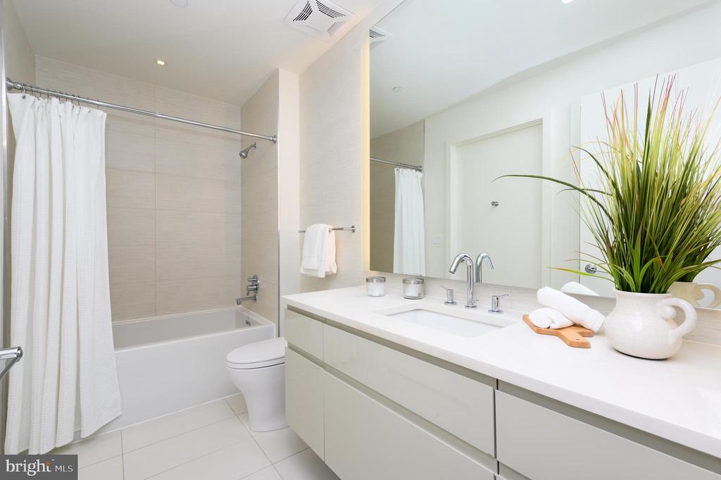 Floor-to-Ceiling Porcelanosa Master Bathroom Tile - 810 O ST NW #208, WASHINGTON