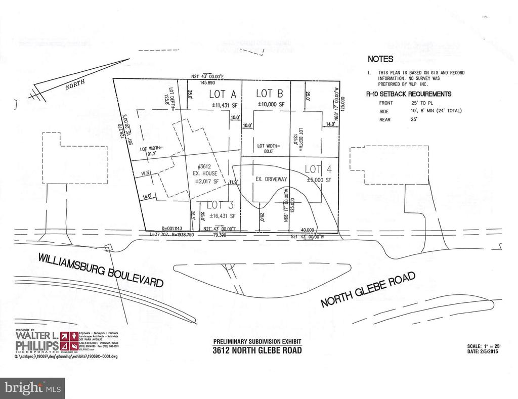 Existing Home Location/Potential Resub w/2 lots - 3612 N GLEBE RD, ARLINGTON