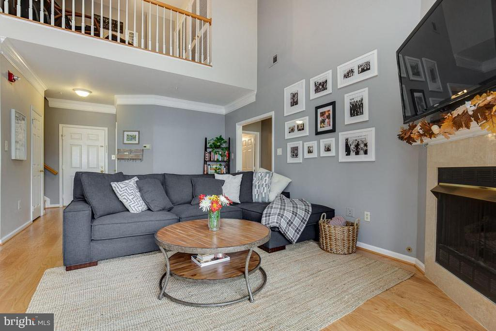 Inviting open concept living area - 6549 GRANGE LN #401, ALEXANDRIA