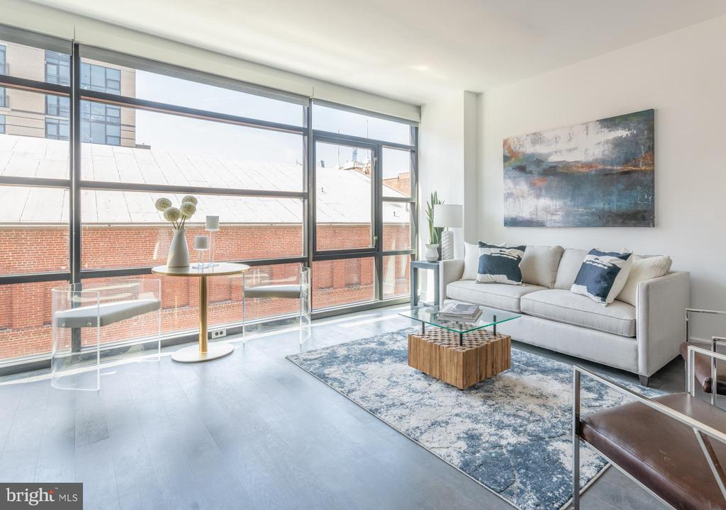 EXPANSIVE floor-to-ceiling windows - 614 T ST NW #307, WASHINGTON