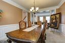 FORMAL DINING ROOM - 15346 WITS END DR, WOODBRIDGE