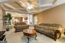 FAMILY ROOM W/COFFERED CEILING - 15346 WITS END DR, WOODBRIDGE