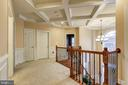 UPPER HALL WITH COFFERED CEILING - 15346 WITS END DR, WOODBRIDGE