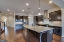 The gorgeous kitchen will inspire you! - 42560 DREAMWEAVER DR, BRAMBLETON